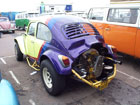 Rainbow paint job Baja Bug