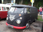 Rat look matt black split screen van