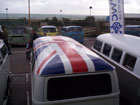 Union flag VW van roof